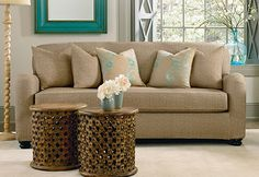 """Stretch Vintage Crosshatch Separate Seat Slipcovers - beautifully textured finish that is designed to look and feel like a """"broken-in"""" favorite."""