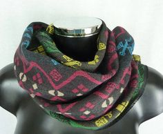 Paul and Joe scarf - Vintage style - Wool and silk scarf - multicolored  designs - b5b47bec3e0