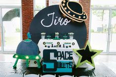 Birthday Party Themes, Birthday Cake, Outer Space Party, Dessert Tables, Birthday Cakes, Dessert Table, Birthday Cookies