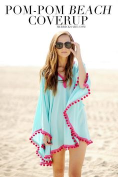 Merrick's Art // Style + Sewing for the Everyday Girl :  DIY FRIDAY: POM-POM TRIM BEACH COVERUP