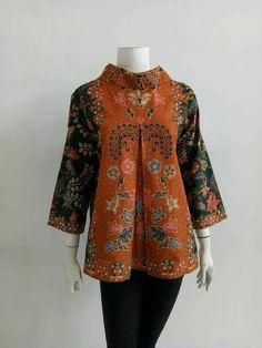Atasan Batik Solo African Fashion Dresses, African Attire, African Wear, Batik Kebaya, Batik Dress, Batik Fashion, Fashion Fabric, Blouse Batik Modern, Batik Blazer