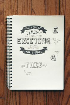 hand lettering sketchbook
