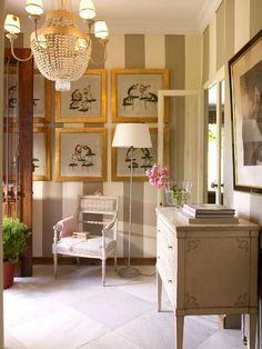 el conjunto una pieza recibidores hogar entradas estilo tradicional papel pintado trucos lectura
