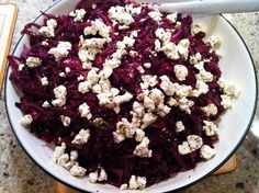 Playing With My Food!: Braised Red Cabbage with Goat Cheese Topping