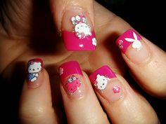 ☮✿★ HELLO KITTY NAILS ✝☯★☮