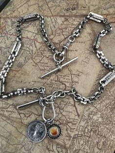 6f1e77943c3 Sterling Silver Watch Chain Necklace with Bracelet  CELESTEANDCOGEMS