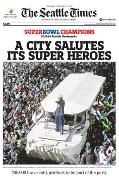 Another great keepsake front page from The Seattle Times.