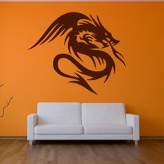 Dragon with Wings Decor Wall Art Sticker Wall Decal - Mythical Creatures - Fantasy