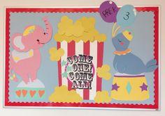 Circus Themed Bulletin Board