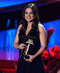 Pin for Later: Mila Kunis Makes a Glowing MTV Movie Awards Appearance