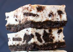This recipe for Cookies and Cream Cheesecake Bars is delicious and addicting. Photograph included.