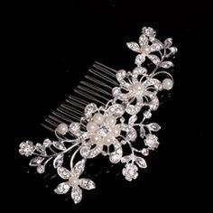 Beautiful Rhinestone/Alloy/Artificial Silk Flowers & Feathers (042075711) - JJsHouse