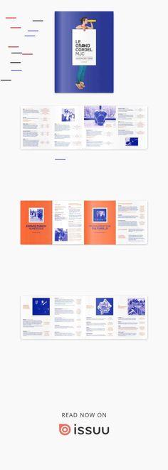 Grand Cordel MJC_Plaquette saison 2017-2018 Grand Cordel MJC_Plaquette saison 2017-2018 Magazine Design, Graphic Design Brochure, Duo Tone, Publication Design, Design Graphique, Editorial Design, Layout Design, Seasons, Books