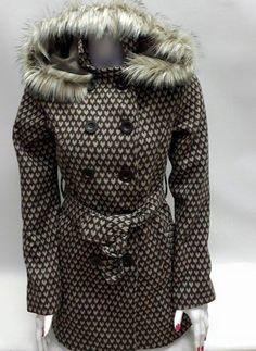 Hobby giyim | İyi Giyinmek ve İyi Yaşamak. big dart kapşonlu kahve-vizon kalpli bayan kaban