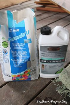 grout and admix seals the grout in the mix so you don't have to seal it later.