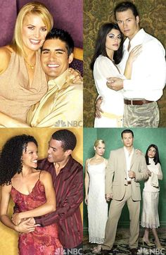 Passions couples Luis and Sheridan,Ethan and Theresa,Chad and Whitney and Gwen
