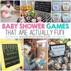 Baby Shower Games That Are Actually Fun! - I Heart Baby Shower Games That Are Actually Fun! – I Heart Arts n Crafts Baby Shower Games That Are Actually Fun! Baby Shower Game Prizes, Baby Shower Games Coed, Baby Shower Bingo, Bany Shower Games, Baby Shower Crafts, Baby Games, Baby Crafts, Shower Gifts, Juegos Baby