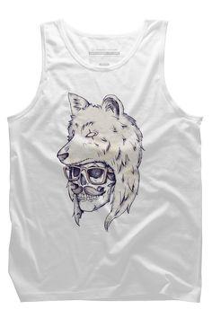 Wolf Hat Mens Tank Top