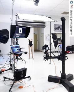 """Very nice BTS @stefanj_photography!! Repost @stefanj_photography with @repostapp. ・・・ Today's shoot. Swimwear Product shots beautiful soft mainlight…"""