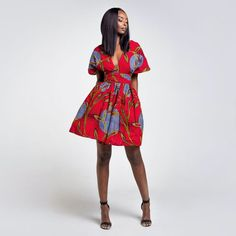 A YOUR WARNING: Don't hesitate to contact us to receive the tutorial video to wear your dress in different ways! Latest African Fashion Dresses, African Print Fashion, African Attire, African Dress, Casual Dresses, Short Dresses, Boho Festival Fashion, Queen Fashion, Short Mini Dress