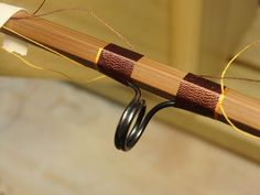 Anthony Joseph Pagley Jr. Bamboo Fly Rods Wrapping a hand made custom built bamboo fly rod