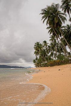The beach at Pestana Equador resort in Ilhéu das Rolas, São Tomé e Príncipe.