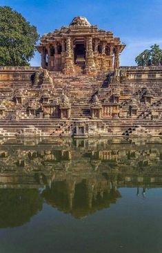 The Sun Temple Modhera Gujarat India - a Hindu temple dedicated to the solar deity Surya Temple Architecture, Indian Architecture, Ancient Architecture, Beautiful Architecture, Temple India, Hindu Temple, Hindu India, Indian Temple, Rajasthan India