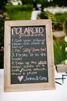 One of our favorite wedding ideas is the use of Polaroid cameras. Sure, they're a throwback, vintage-inspired idea, but Polaroids are a consistent crowd-pleaser. Today we're sharing seven fun ideas for using Polaroids at weddings including a polaroid guest book, a life-size Polaroid photo booth backdrop (use it for your wedding, bachelorette party, or outdoor party this summer!), a Polaroid cake topper, and more.