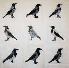 varis piirros - Google-haku Creative Kids, Crow, Art For Kids, Arts And Crafts, Birds, Fancy, Sculpture, Quilts, Drawings