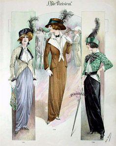 Chic parisien.   la fin du 19-le début du XX siècle