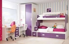 Decoracion Hogar - Fotos de Decoracion - Comunidad - Google+ Teen Bunk Beds, Modern Bunk Beds, Bunk Beds With Stairs, Bedroom Sets, Home Decor Bedroom, Bedroom Furniture, Kids Furniture, Furniture Design, Kids Bed Design