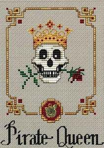 Pirate Queen cross stitch $5.95 ANOTHER CROWN FOR THE CORNER OF THE CHESS BOARD