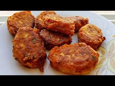 ΠΑΤΑΤΟΚΕΦΤΕΔΕΣ - YouTube Appetizer Recipes, Appetizers, Greek Recipes, Tandoori Chicken, Finger Foods, Sausage, Side Dishes, Muffin, Potatoes