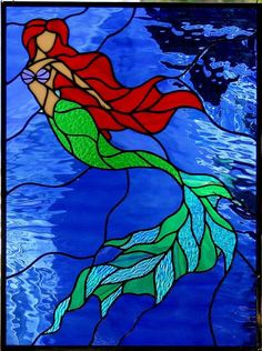 Mermaid Stained Glass | Stained Glass – A Forever Gift | Stained Glass Windows Etc