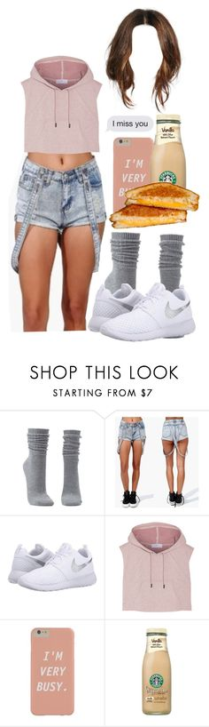 """Untitled #473"" by queen-alicia ❤ liked on Polyvore featuring Charlotte Russe, NIKE and adidas"
