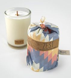 Zest Citrus Scented Soy Candle by MIXT Studio on Scoutmob Shoppe