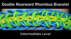 awesome Rainbow Loom® Double Rearward Rhombus Bracelet