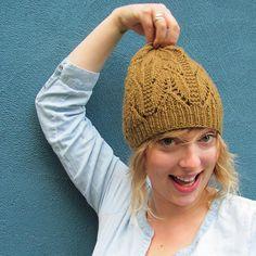 Nettle Hat by Elizabeth Pedersen. malabrigo Worsted. Praliné colorway.