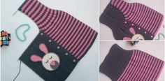 The materials used for the construction of knit vest with vest and the number of stitches. You can decorate them with rabbit motifs to make them more happy. Knitted Baby Clothes, Knitted Baby Blankets, Knitted Bags, Knitting Blogs, Baby Knitting Patterns, Knitting Stitches, Easy Crochet, Crochet Baby, Handmade Kids Bags
