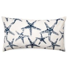 Check out this item at One Kings Lane! Starfish 11x20 Cotton Pillow, Navy