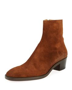16c7c51f32f Christian Louboutin | Brown Hustington Men's Suede Boot for Men | Lyst Mens  Suede Boots,