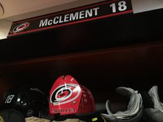 Dec. 6 vs. Arizona: #Canes fireman's helmet goes to Jay McClement after his first goal of the season.