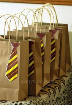 Harry Potter Party - the goodie bags (take home favors)