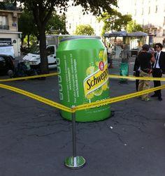 #Schweppes #Guerilla #Marketing