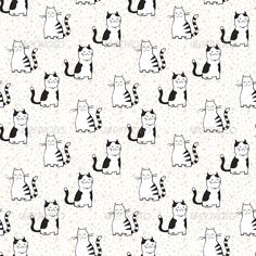 Vector Seamless Pattern with Striped Cats.  #GraphicRiver         vector seamless pattern with black and white striped domestic cats. Texture for print, textile, wallpaper for children room.     Created: 5February13 GraphicsFilesIncluded: JPGImage #VectorEPS Layered: No MinimumAdobeCSVersion: CS Tags: animal #animalistic #art #background #cartoon #cat #childish #couple #cute #design #drawing #drawn #fabric #funny #graphic #illustration #image #love #material #orange #ornament #paper…