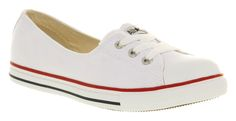 Womens Converse Dance Lace Optical Wht Exc Trainers Shoes