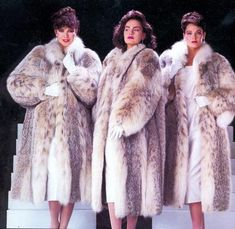 Fur Fashion, Womens Fashion, Lynx, Fur Trim, Fur Coats, Style Guides, 1980s, Vintage Fashion, Glamour