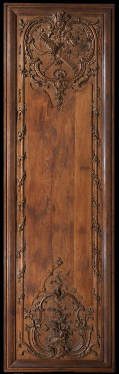 French carved oak  panel, 1700-1735
