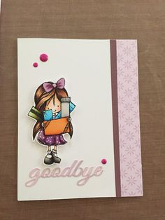 My new card using tiddly ink stamp.#tiddlyink#anitaleescard