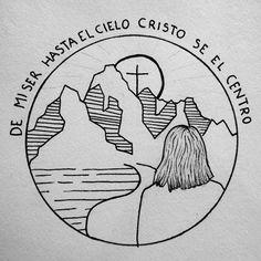 #Dios #amor #dibujo #Cruz #montañas #tumblr Simple Drawings, Card Drawing, Instagram Story, Instagram Posts, Shawn Mendes, Illustration Art, Geek Stuff, Cards, Gifts